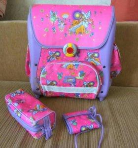 Школьный рюкзак, портфель для девочки