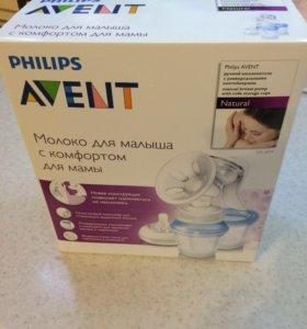 Новый молокоотсос Philips с соской и баночками