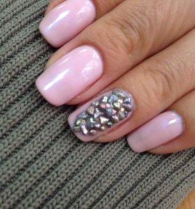 Покрытие шилак, дизайн ногтей 💅🏼🌸🎀