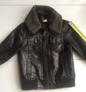 Детская куртка экокожа