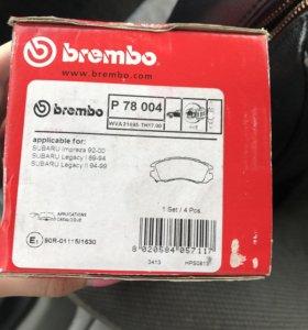 Колодки тормозные задние Subaru Legacy, Impreza