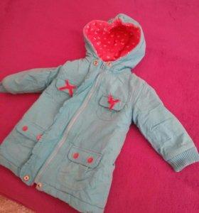пальто  для девочки рост 86