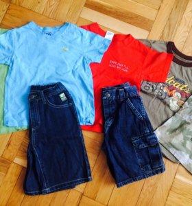 Шорты и футболки на 3-4-5 лет