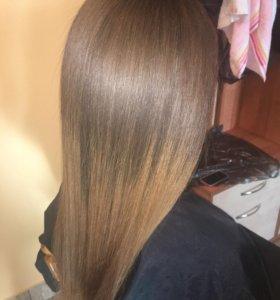Биксипластия волос ( кератин ), ботокс для волос