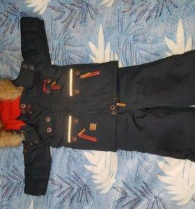 Куртка и полукомбинезон зимний для мальчика gusti