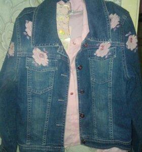 Джинсовая курточка, рубашка