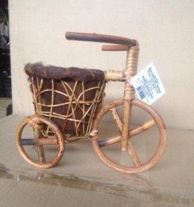 Велосипед декоративное кашпо