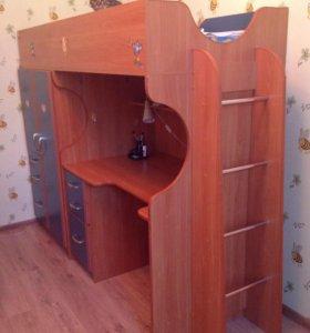 Стол+шкаф+кровать+матрас!