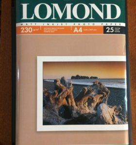 Фотобумага для струйной печати Lomond А4