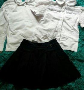 Школьная форма/Юбка + блузка + бадлон для школы