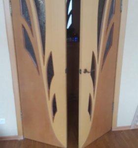 Дверь межкомнатная двойная-2000р   200×60   200×60