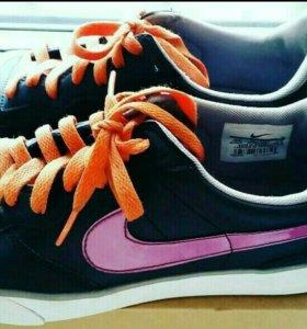 Кожаные кросовки Nike