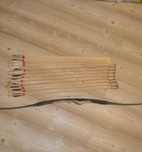 Бурятский лук с комплектом стрел