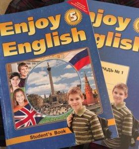 Учебник и тетрадь Английский 5 класс Биболетова