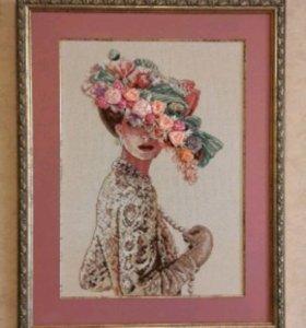 Картина Дама в шляпе