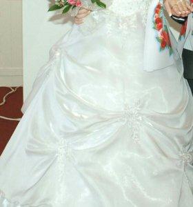 Свадебное красивое платье! ТОРГ хороший!!!