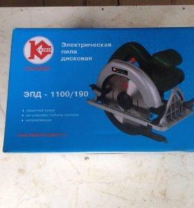 Электрическая пила дисковая ЭПД-1100/190