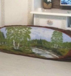 Картина деревянная