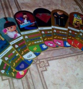 Карточки Миньоны Гадкий Я 3