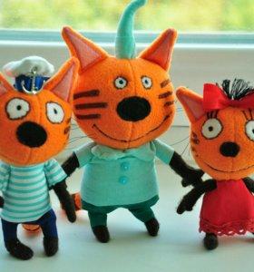 Три кота-три хвоста! Коржик, Карамелька, Компот