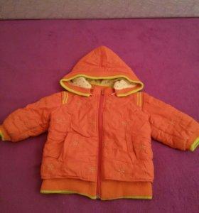 куртка детская утепленная 1 - 2 года