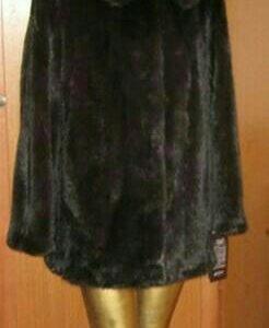 Шуба норковая чёрная 42-44