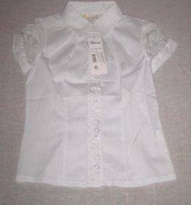 Блуза белая с коротким рукавом (новая)