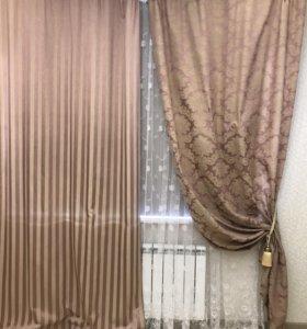 Комплект 2 шторы, 2 наволочки и покрывало