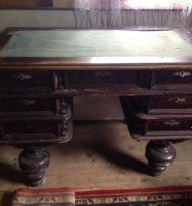 Письменный стол, дуб, 19 век не реставрированный