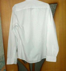 Рубашка белая, ворот 41