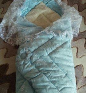 Красивое и теплое одеяло для младенца
