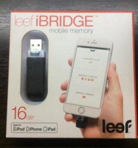 leef bridge 16gb флешка для Iphone