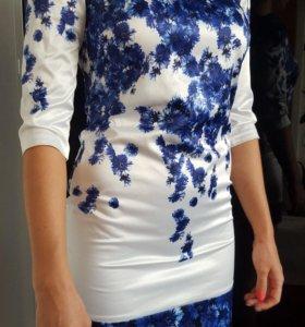Платье с васильками