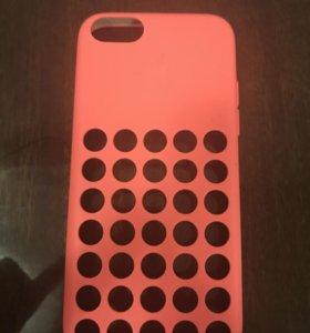 Чехол для iPhone 5с розовый