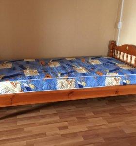 кровать (односпальная) с матрасом