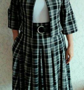 Костюм женский с юбкой 48размер