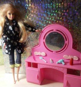 Барби и туалетный столик бу