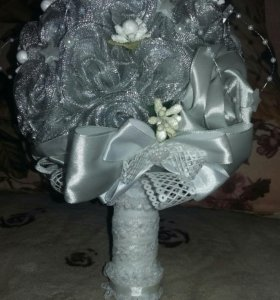 Букет невесты из лент.