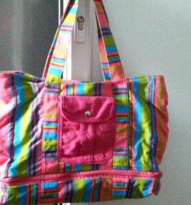 сумка пляжная женская+коврик