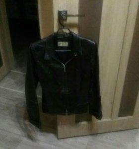 Куртка кожаная натуральная, размер 44