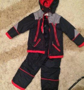 Зимний комплект: комбинезон+куртка