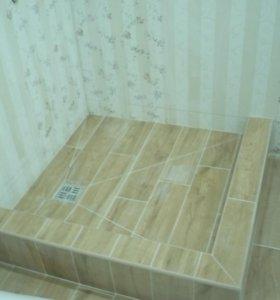 Ремонт ванных к-т,монтаж мозаики,клинкерной плитки