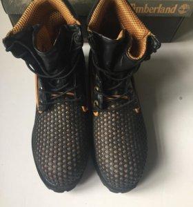 Ботинки Timberland custom черные осень