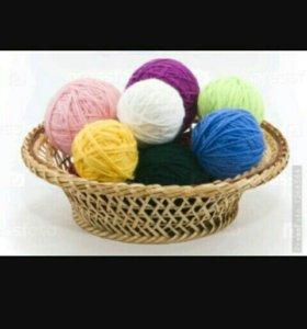 Приму разные ниток для вязания в дар