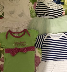Набор и 4 предметов одежды для девочки р. 80