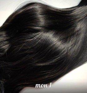 Натуральные волосы на заколках/трессы