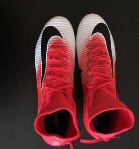 Бутсы Nike Mercurial с носком размер us12(45)