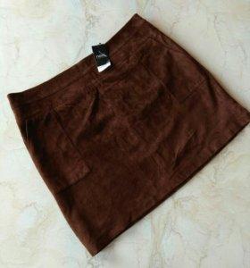 Новая замшевая юбка 52-54