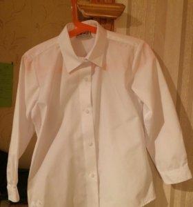Школьная рубашка белая (набор 5 штук)