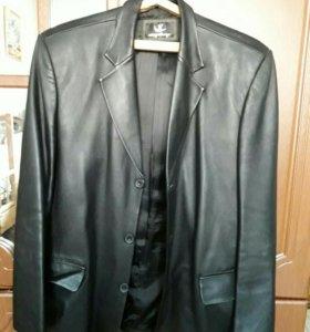 Кожанный пиджак 3xl